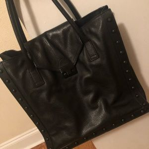 Loeffler Randall tote studded black purse